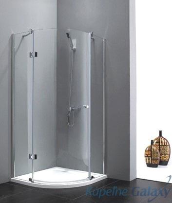 Extra S5 90, sklo frost sprchový kút kruhový
