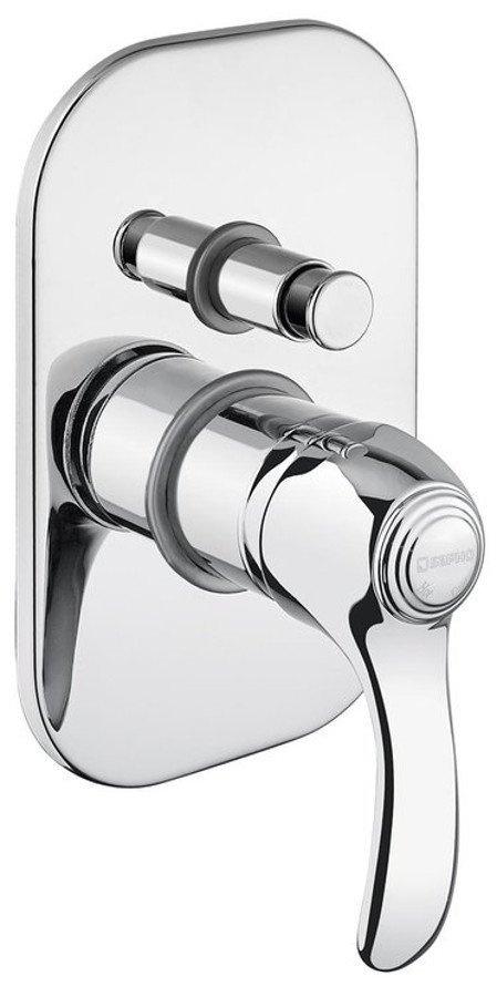 KIRKÉ podomietková sprchová batéria, 2 výstupy, chróm