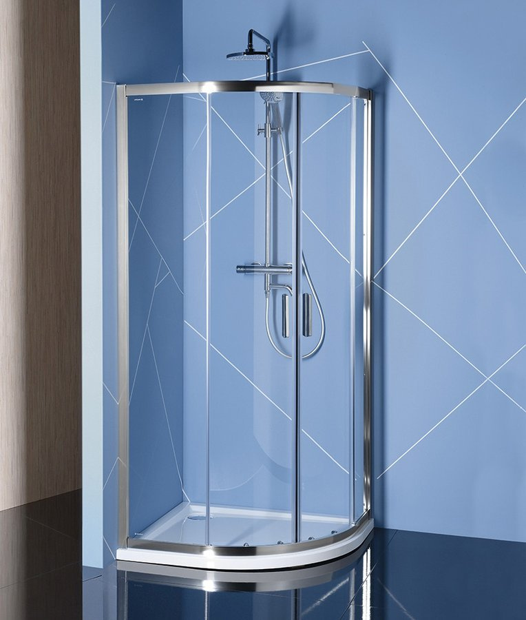 EASY LINE štvrťkruhová sprchová zástena 1000x800mm, L/R, číre sklo