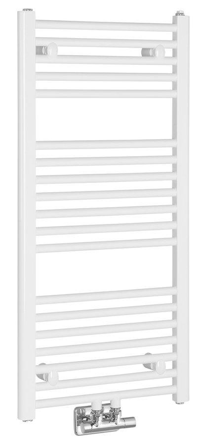 DIRECT Vykurovacie teleso rovné, stredové pripojenie, 450x986 mm, 415 W, biela