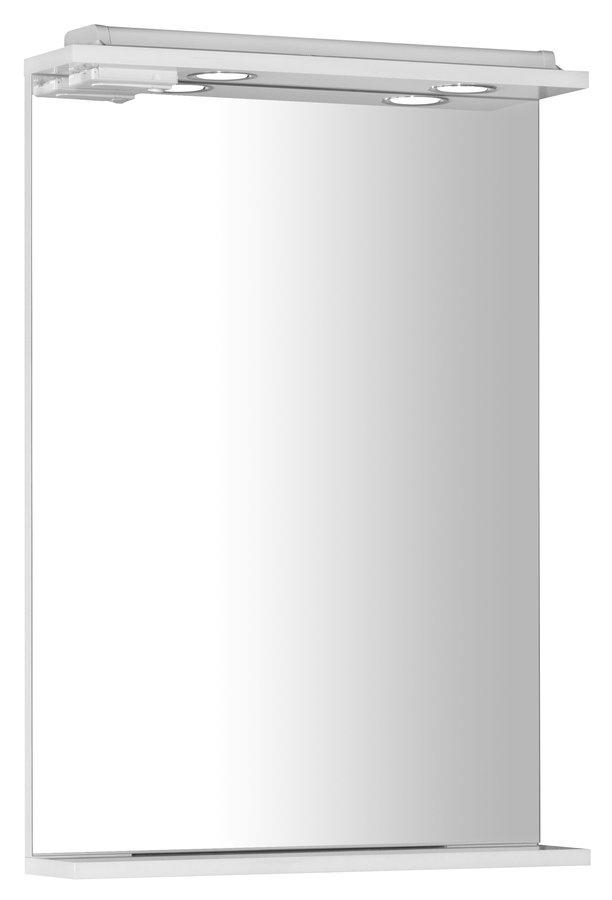 EKOSET zrkadlo s osvetlením 50x75x12cm, biela