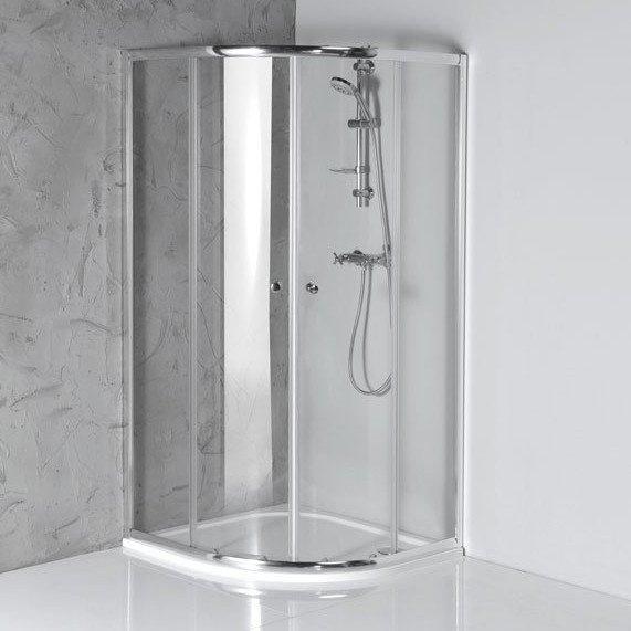 ARLETA štvrťkruhová sprchová zástena 800x800mm, číre sklo
