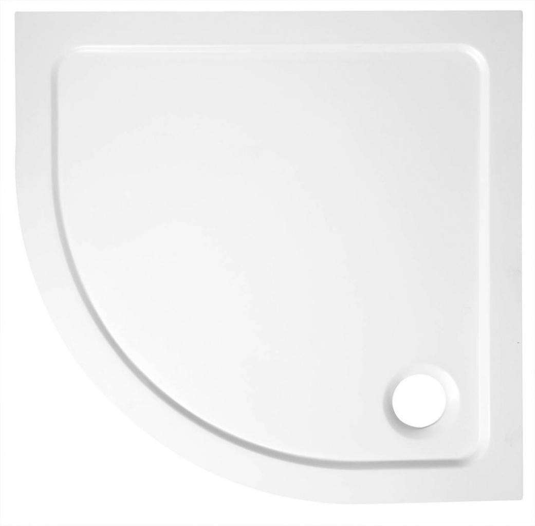 TECMI vanička z liateho mramoru, štvrťkruh 90x90x3 cm, R55