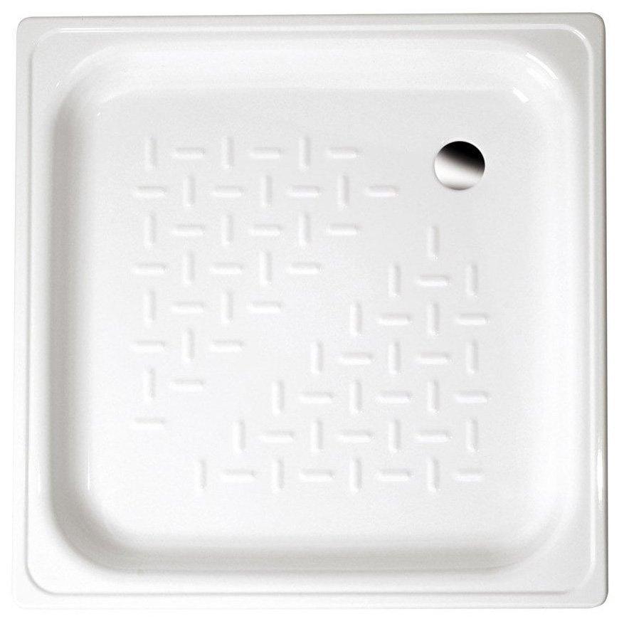 Smaltovaná sprchovacia vanička, štvorec 80x80x16cm, biela