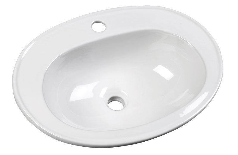 SARA keramické umývadlo 54x41, zápustné
